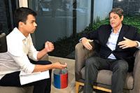 Entrevista de Renato Cunha, Presidente do SINDAÇÚCAR/PE, sobre a possibilidade da venda direta de etanol hidratado aos postos, na sede da Rede Globo Nordeste, dia 02/julho/2018
