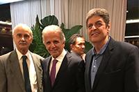 Em Brasília, coquetel de posse do Ministro José Múcio Monteiro Filho como Presidente do TCU com Renato Cunha,<br/> Presidente do SINDAÇÚCAR/PE e Pedro Robério Nogueira, Presidente do SINDAÇÚCAR/AL, dia 11/dezembro/2018