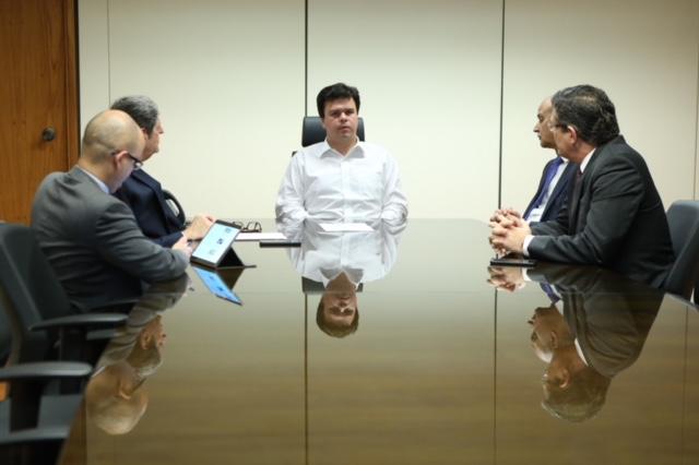 Renato Cunha, Presidente do SINDAÇÚCAR/PE e outros Representantes do Setor, em audiência com o Ministro de Minas e Energia, Fernando Bezerra Filho, sobre o Programa Renovabio, em Brasília, dia 16/novembro/2017