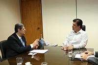 Renato Cunha, Presidente do SINDAÇÚCAR/PE, participando de audiência com Ministro Fernando Bezerra Filho, tendo como pauta questões atinentes Renovabio e acerca Resolução número 11 do CNPE,<br> versando sobre necessidade melhor disciplinamento fluxo importações etanol importado, em Brasília, dia 17/janeiro/2018