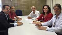 Renato Cunha/Presidente e José Otávio de Carvalho/Advogado do SINDAÇÚCAR/PE com outros membros, participando da Convenção Coletiva dos Motoristas 2016 na Superintendência Regional do Trabalho de Pernambuco,em 30/junho/2016