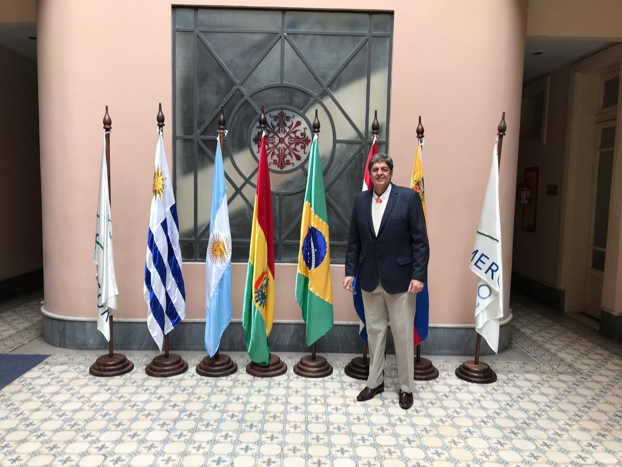 Em Montevidéu/Uruguai, Renato Cunha, Presidente do SINDAÇÚCAR/PE, acompanhando a Coalizão Empresarial Brasileira da CNI nas negociações do MERCOSUL - União Européia, dia 12/setembro/2018