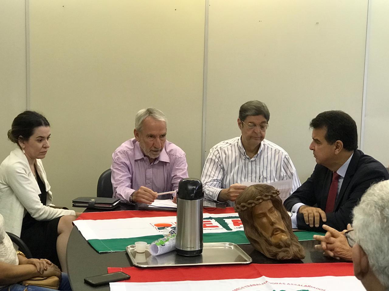 Renato Cunha, Presidente do SINDAÇÚCAR/PE, participando da abertura das negociações da Convenção Trabalhista Rural, na Superintendência Regional do Trabalho, dia 28/setembro/2018