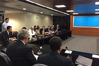 Renato Cunha, Presidente do SINDAÇÚCAR/PE, participando da mesa mensal Tripartite de Abastecimento do Etanol no Ministério de Minas e Energia/MME