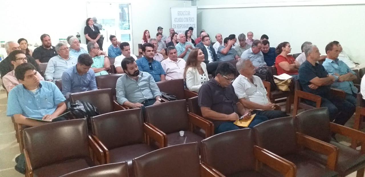 Seminário realizado no Auditório da sede do SINDAÇÚCAR/PE apresentado pela Agência Nacional do Petróleo com presenças de Usinas dos Estados de<br/> Pernambuco, Paraíba, Rio Grande do Norte, Piauí e Maranhão, dia 24/abril/2019