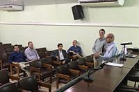 No auditório da Sede do SINDAÇÚCAR/PE, o Presidente Renato Cunha, recebe a Camex/Ministério de Desenvolvimento, Indústria e Comércio de Brasília, para palestra sobre Novo Processo de Exportações, dia 30/novembro/2017
