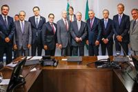 Renato Cunha, Presidente do SINDAÇÚCAR/PE, participando de reunião da FIEPE e CNI com o Presidente da República Michel Temer, no Palácio do Planalto em Brasília, dia 19/julho/2016