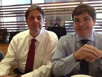 André Rocha - Presidente do SIFAEG de Goiás e Renato Cunha - Presidente do SINDAÇÚCAR/PE
