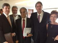 André Rocha – SIFAEG/GO, Jorge Santos – SINDALCOOL/MT, Robson Andrade – Presidente da CNI, Renato Cunha – SINDAÇÚCAR/PE e Elizabete Farina – Presidente da UNICA