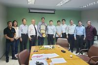 Na sede do SINDAÇÚCAR/PE, Renato Cunha, Presidente da Entidade, recebe Grupo Chinês - Grupo China XinHai Broad Ind. Development Co.,LTD, para tratar sobre tecnologia açucareira, dia 15/janeiro/2019
