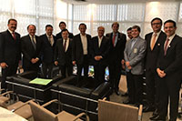 Em São Paulo, Renato Cunha, Presidente do SINDAÇÚCAR/PE, no evento do Agronegócio da FIESP, com Governador Geraldo Alckmin, Presidente da FIESP, Paulo Skaf, Presidente do Fórum Sucroenergético,</br> André Rocha, entre outras personalidades do setor, dia 31/julho/3017