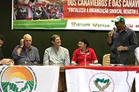 Na Superintendência Regional do Trabalho de Pernambuco, início das negociações do trabalhador rural com a participação de Renato Cunha, Presidente do SINDAÇÚCAR/PE, FETAPE e SINDICAPE, dia 09/outubro/2018