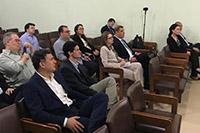 No auditório da sede do SINDAÇÚCAR/PE, Renato Cunha, Presidente, recebe associados e convidados</br> para evento com a direção do Banco do Brasil sobre mercado de capitais, dia 20/agosto/2019