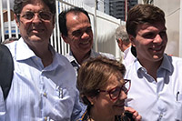 Renato Cunha, Presidente do SINDAÇÚCAR/PE acompanhando a comitiva da Ministra da Agricultura, Senhora Tereza Cristina Corrêa da Costa Dias, em visita a cidade de Petrolina/PE, dias 16 e 17/abril/2019