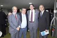 Deputados Cadoca e Sílvio Costa, Renato Cunha - Presidente Sindaçúcar/PE e Pedro Robério - Presidente Sindaçúcar/AL em reunião acerca da MP 633 Subvenção Etanol