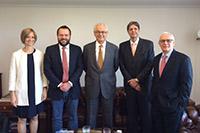 Encontro na Embaixada do Brasil em Londres/Inglaterra do Presidente do SINDAÇÚCAR/PE, Renato Cunha, com os embaixadores; Roberto Jaguaribe e Frederico Arruda, para tratativas da Cota Cxl