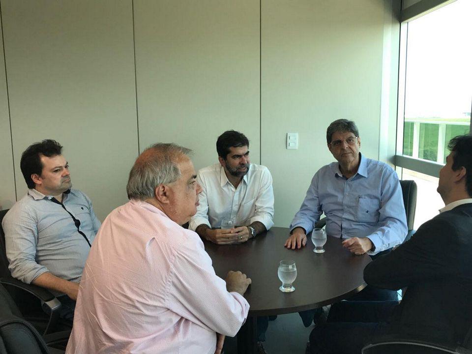 Em visita ao Porto de Suape, o Presidente Renato Cunha e Superintendente Marcelo Guerra do SINDAÇÚCAR/PE, sendo recebidos pelo Presidente Marcos Baptista e Equipe, dia 09/março/2018