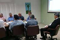 Na sede do SINDAÇÚCAR/PE, o Presidente Renato Cunha recebe para reunião de planejamento, com a presença dos produtores de etanol do nordeste com a participação dos estados</br> de Pernambuco, Alagoas, Paraíba, Rio Grande do Norte e Piauí, dia 19/fevereiro/2018