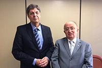 Renato Cunha, Presidente do SINDAÇÚCAR/PE e o Deputado Júlio César Piauí, Presidente da Comissão de Desenvolvimento Econômico da Câmara Federal