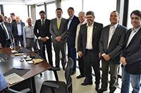 Reunião realizada na FIEPE, com a presença de Renato Cunha, Presidente do SINDAÇÚCAR/PE e lideranças do setor com foco na manutenção do emprego, dia 16/março/2018
