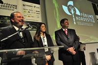 Eduardo Monteiro (presidente do Grupo EQM), Joana Costa (Grupo EQM) e Renato Cunha (Presidente Sindaçúcar-PE).