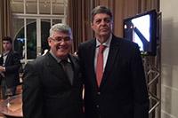 Renato Cunha, Presidente do SINDAÇÚCAR/PE e Josias Messias, Diretor do Jornal Cana, em noite de premiação do MasterCana Centro-Sul, no Espaço Golf em Ribeirão Preto/São Paulo, dia 22/agosto/2016