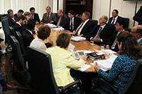 Renato Cunha, Presidente do SINDAÇÚCAR/PE, participando de reunião com a Ministra Kátia Abreu em Brasília/DF, no último dia 12 de agosto
