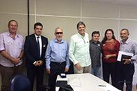 Renato Cunha/Presidente e Marcelo Guerra/Superintendente do SINDAÇÚCAR/PE, participando da reunião Paritária na Superintendência Regional do Trabalho do MTE, dia 17/setembro/2015