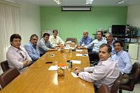 Reunião de nivelamento, acerca de comércio exterior entre produtores de açúcar de Alagoas e Pernambuco, realizada no SINDAÇÚCAR/PE em 14/07/2014
