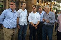 Governador do Estado de Pernambuco, Dr. Paulo Câmara, participando de evento com Renato Cunha, Presidente do SINDAÇÚCAR/PE
