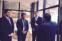 Renato Cunha, Presidente do SINDAÇÚCAR/PE, participando de reunião com Dr. Márcio Freitas, Presidente da OCB - Organização das Cooperativas do Brasil e o Deputado Líder, Mendonça Filho, que proferiu<p> palestra sobre Conjuntura Nacional