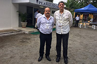 Renato Cunha, Presidente do SINDAÇÚCAR/PE com o Professor Djalma Euzebio/EECAC-STAB, participando da 14o. edição do Workshop em Carpina, sobre Plantas Daninhas e Adubação de Cana-de-Açúcar
