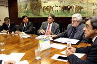 Ministro Mauro Borges, Deputado Pedro Eugênio, Renato Cunha, Eduardo Farias e Gilberto Tavares de Melo.