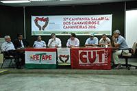 Renato Cunha, Presidente do SINDAÇÚCAR/PE, participando da Trigésima Sétima Convenção Coletiva dos Rurícolas 2016