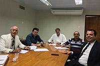Na sede do SINDAÇÚCAR/PE, o Presidente Renato Cunha e equipe, recebe  dirigentes do SINTRACARGAS para negociação da Convenção Coletiva dos Motoristas 2019/2020, dia 22/julho/2019