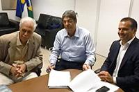Em recente reunião no SINDAÇÚCAR/PE, Renato Cunha/Presidente, Luiz Antonio de Andrade Bezerra/Diretor Conselheiro e o Secretário de Meio Ambiente e Sustentabilidade, Dr. Sérgio Xavier