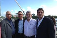 Gerson Carneiro Leão/SINDICAPE, Alexandre Andrade/AFCPE, Deputado Pedro Eugenio e Renato Cunha/SINDAÇÚCAR-PE na inauguração da Via Mangue em Recife/PE, quando tratamos com a Presidente Dilma acerca da sanção das MP´s do etanol e cana-de-açúcar